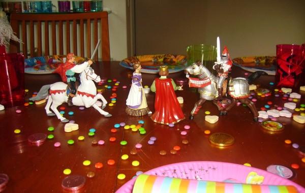 Verjaardagstafel voor prinsjes en prinsessen