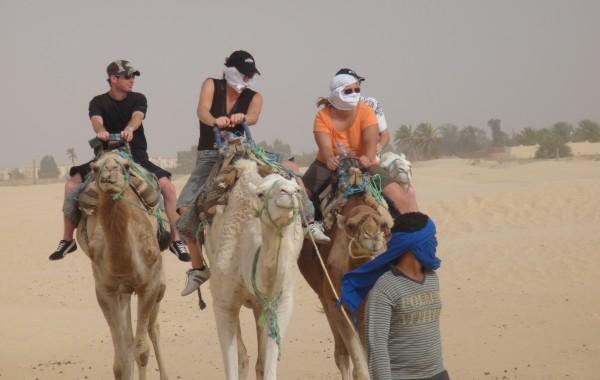 En we hebben nog op een kameel gezeten. (Dromedaris)